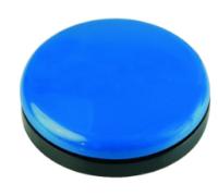 Buddy Button 63, blau