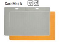 CareMat A mit Funk, rechteckig, 1100 x 700 mm, normale Größe, Eldat-Easywave, grau