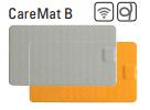 CareMat B mit Funk, rechteckig, 700 x 400 mm,  kleine Größe, Eldat-Easywave, grau