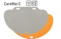 CareMat C mit Funk, halbrund, 1100 x 700 mm, normale Größe, Eldat-Easywave, grau