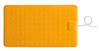 CareMat B mit Kabel, rechteckig, 700 x 400 mm,  kleine Größe, normal offen, gelb