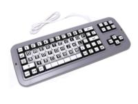 Clevy Tastatur, QWERTZ, Schwarz-Weiß