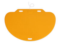 CareMat C mit Kabel, halbrund, 1100 x 700 mm, normale Größe, normal offen, gelb