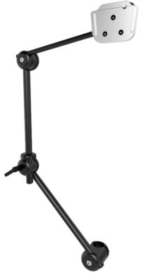 Monty Rollstuhlhalterung S 3-D mit Rohrflansch